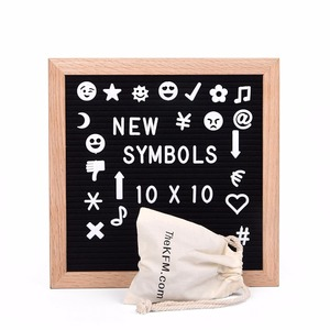 Black Felt Letter Board with Stand Changeable Square Letters Board
