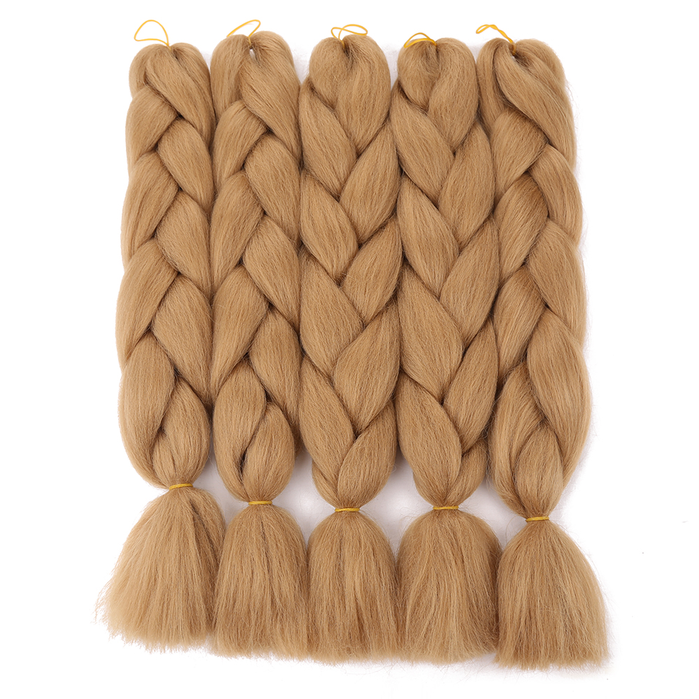 24 Inch Hair Synthetic Hair Jumbo Braids Extensions single Color 100g/pack