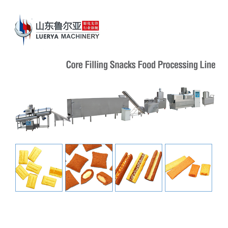 Factory Direct Sale twin screw extruder corn puffs snacks machines