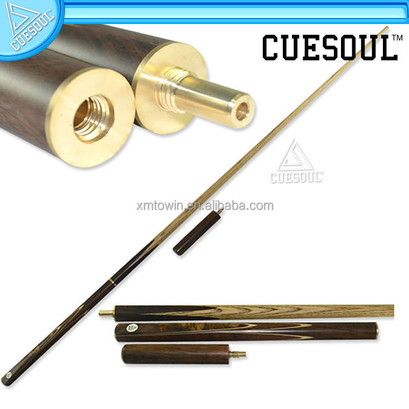 CUESOUL Professional Handmade Luxury Veneer 3/4 Jointed Snooker Cue , 57 inch, 19 oz Hand Spliced Snooker Cue 2010002