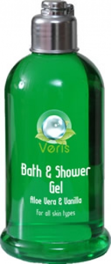 VERIS DEAD SEA ALGAE AND MINERAL BATH AND SHOWER GEL FOR SENSITIVE SKIN ALOE VERA AND VANILLA