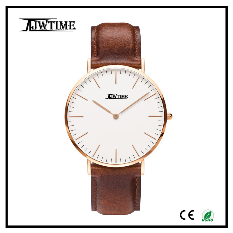 fashion slim stone quartz watch relogio masculino mens wrist watches rose gold watch stainless steel back water resistant