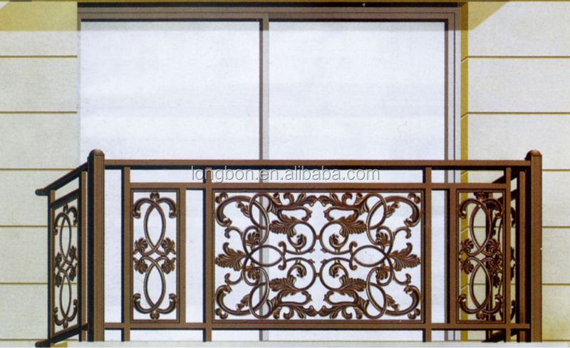 Top selling faux security metal balcony grill designs for Terrace railings design philippines