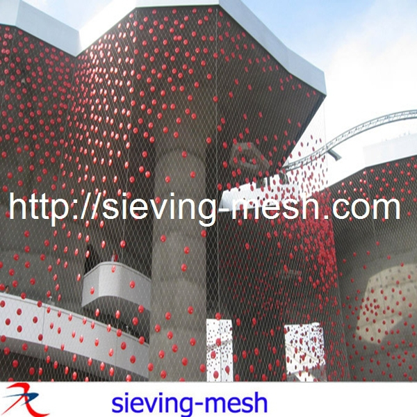 Stainless Steel Wire Rope Cloth / Ss Wire Rope Wall Cladding ...