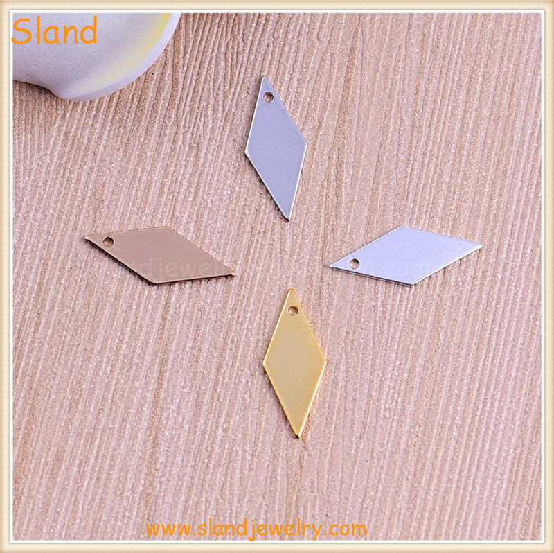 personalised round/star/heart/square mini tags for custom different shape brass metal hand stamp