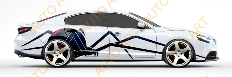 Graphics Vinyl Decal Beautiful Car Side Stickers Buy Car