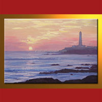 Wholesale landscape colorful spray painting wall art
