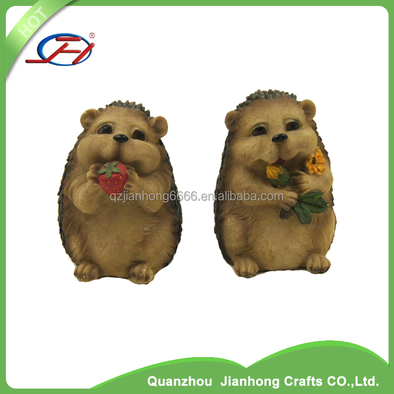 fancy hedgehog souvenir gifts crafts resin artificial