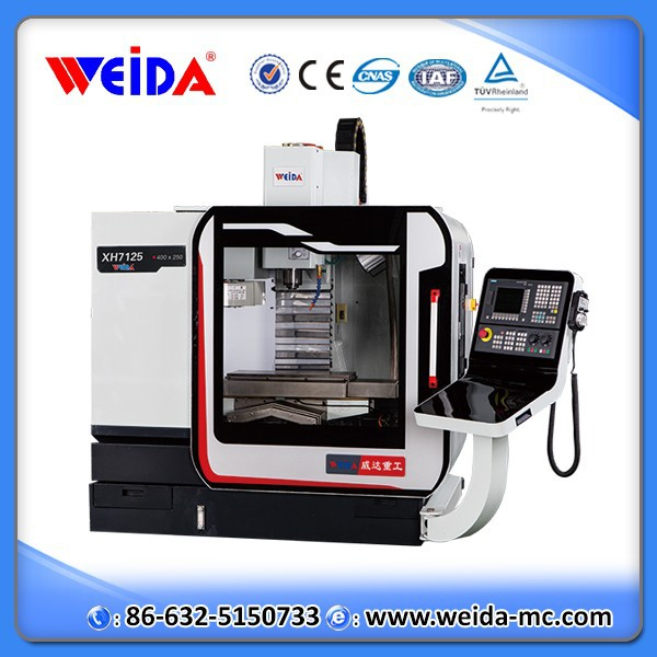 XH7125 mini 3 axis vertical cnc machining center/10 tools small turning center