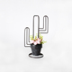 Wrought iron cactus plant pots stand flower pot carrier hand basket with 1 pot