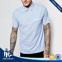 2016 Guangzhou shandao supplier new design casual summer 180g 100% polyester bangladesh polo shirt