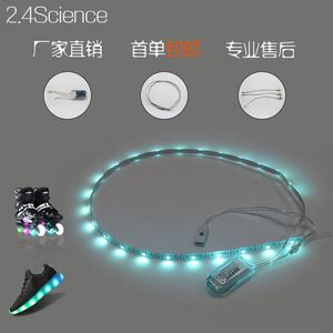 Fashion durable LED music shoe light strip with mic control