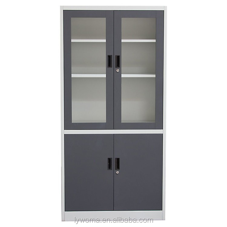 Glass Door Godrej Cupboard Iron Filing Cabinet Documents