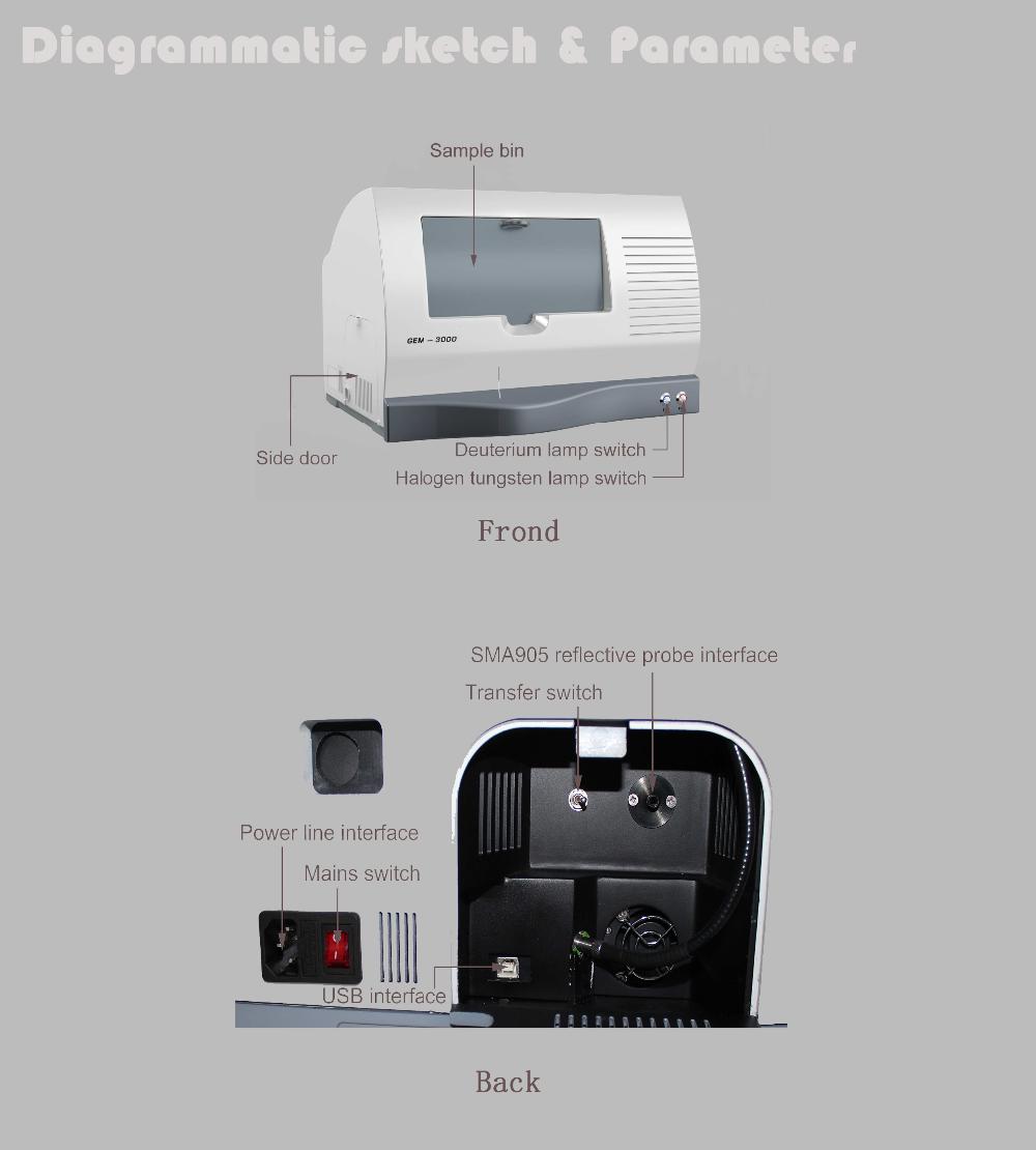 desktop computerJewelry analysis/jewelry texting machine (GEM-3000)