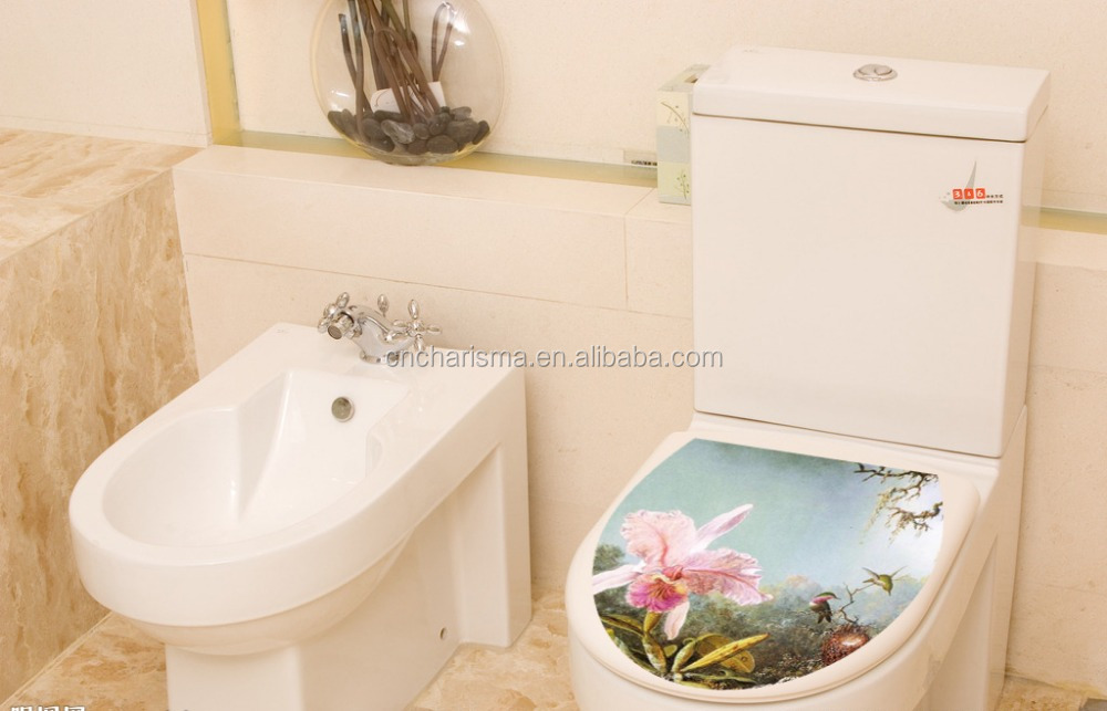 New Flower Design Toilet Seat Cover Stickers For Bathroom Decoration Buy Toilet Seat Sticker Waterproof Pvc Sticker Product On Alibaba Com