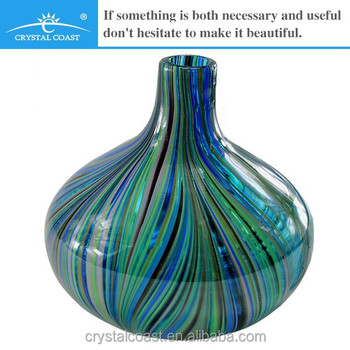 Small Crystal Cheap Hand Blown Glass Flower Vasewholesale Murano