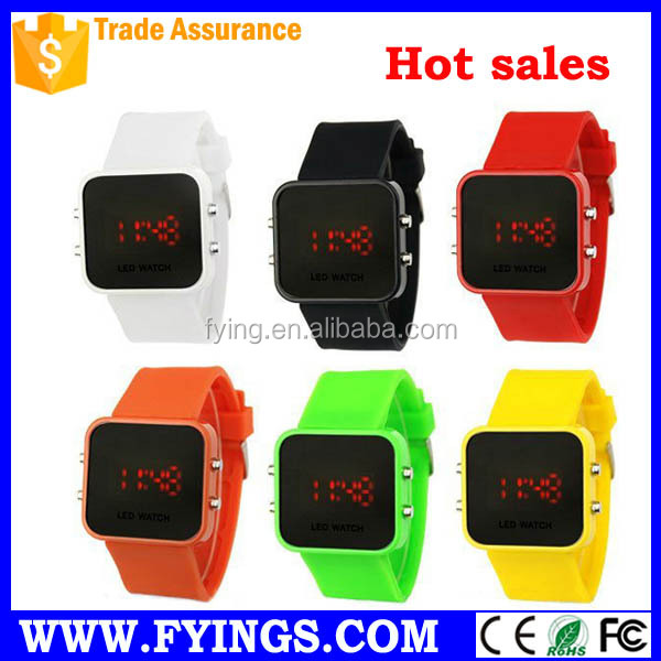 square case led watch 2015 vogue silicone watch