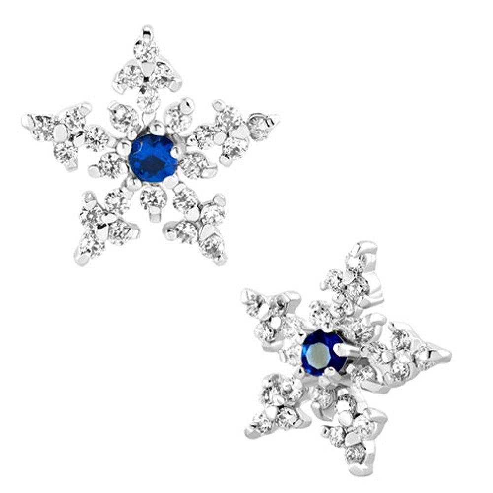 Christmas Gifts Jewelry Winter Snowflake Rhinestone Swarovski Elements Crystal Stud Earrings