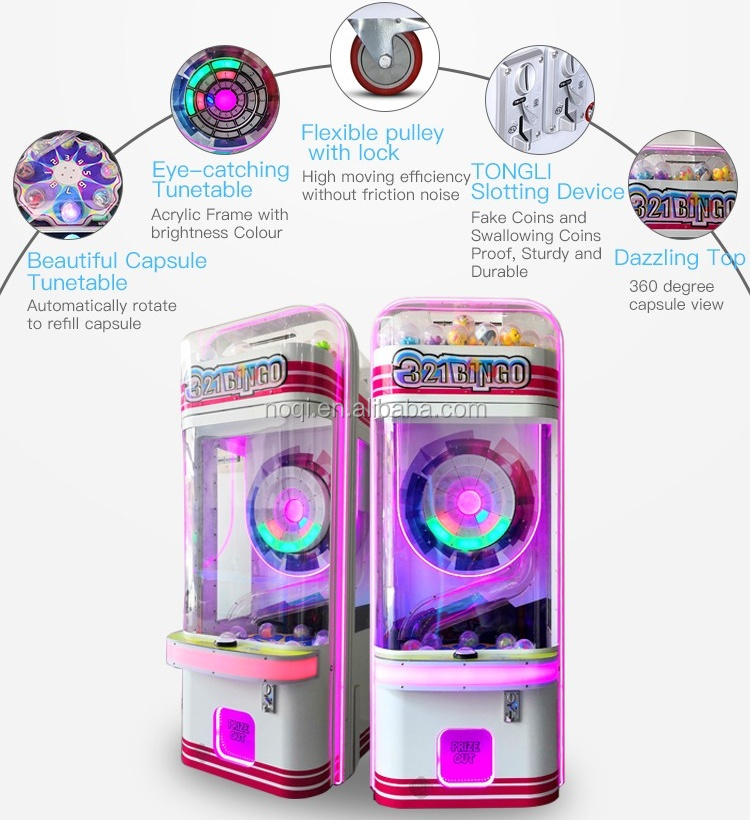 100% winning rate capsule dispenser arcade toy gift machine, toy ball redemption game machine