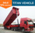 Heavy Duty 3 Axle 60T Dump / Dumper / Dumping 60 Tons Tipper Trailer
