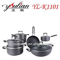 11PCS High Quality Aluminum Non-stick Hard Anodized Cookware Sets