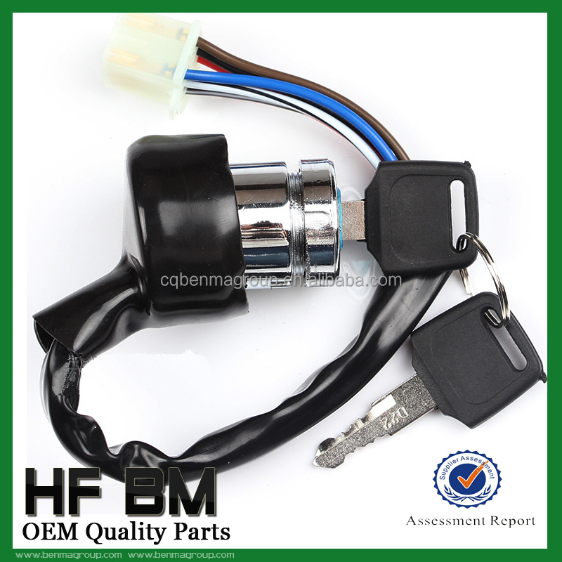Ax100 Universal Motorcycle Ignition Key Switch 6 Wire