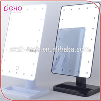 Wholesale and retail beautyful new model cheap modern dressing light table mirror with touch press from china mirror factory
