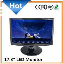 Hot New Style! ! Wide Screen 17.3'' LED Monitor DC 12V with DVI VGA Input