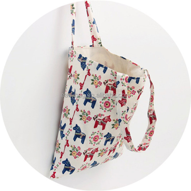 Custom Full Color Printed Pony Linen <strong>Tote</strong> Bag Cotton Canvas <strong>Tote</strong> Handbag Wholesale
