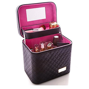 custom design oem professional makeup train case cosmetic studio box