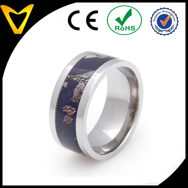 Jewelry Findlings Wedding Rings Titanium Mens Camo Rings WholesaleCheap Titanium Forest Leaves
