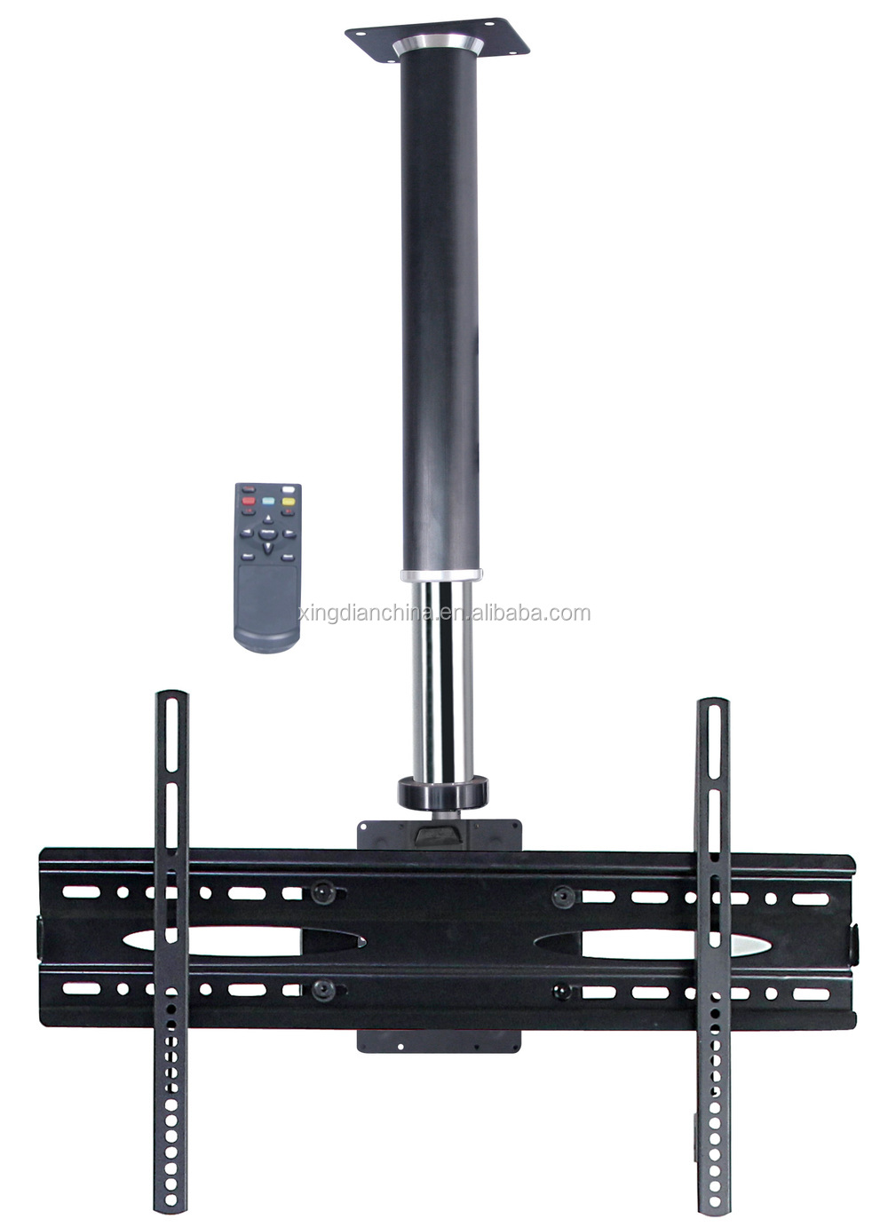 Lcd tv ceiling mount bracket webshop tv lift with remote for Motorized ceiling tv mount
