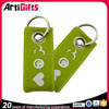Artigifts company professional printing fashion felt keychain customized double sided key chains