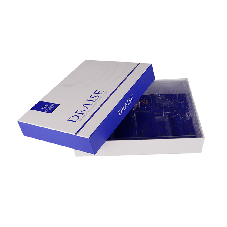 Private label luxury fancy paper custom square piece rigid box packaging cosmetic