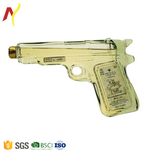 Hot sale gun shaped bottle for vodka