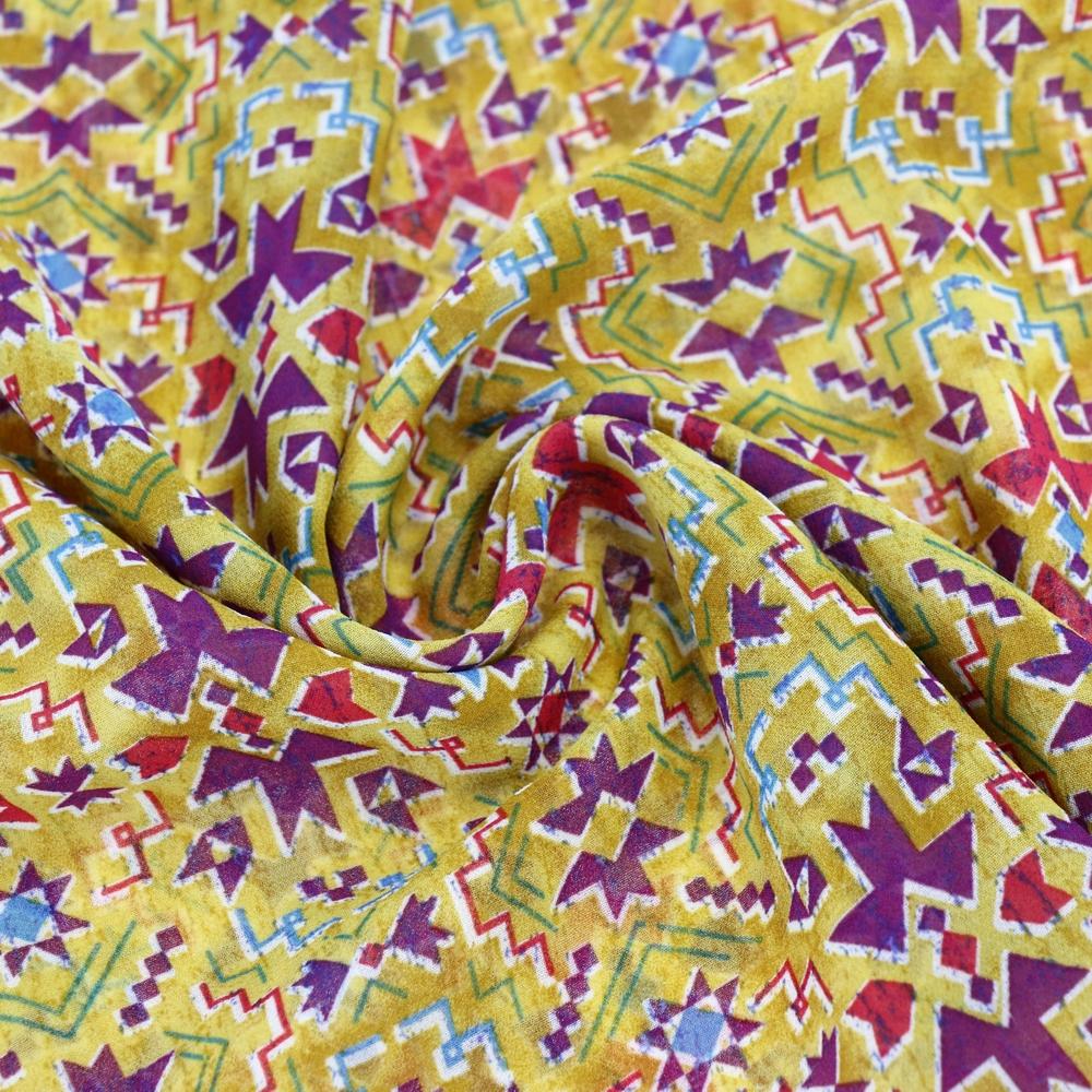 Different types of chiffon fabric prints painting designs for Different painting designs