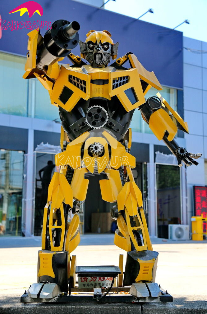 KANO0346 Amusement Park Decoration Large Outdoor Sculptures Transformers Bumblebee