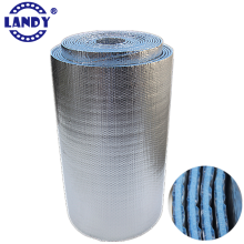 blue foam aluminum foil insulation roll,aluminium bubble + foam foil insulation material for roof