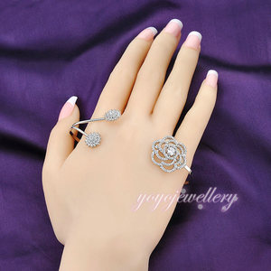 Wholesale handmade jewelry white gold plated crystal new models bracelets