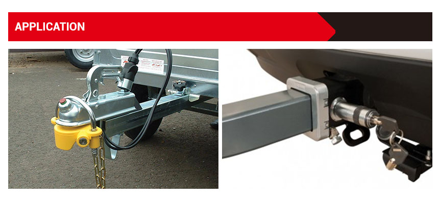 Factory price high quality exporting standard trailer hitch lock