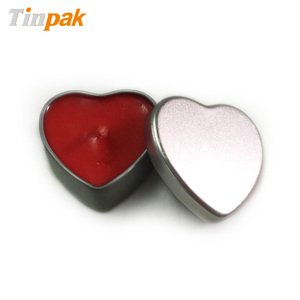 Promotional heart shape candle metal boxes