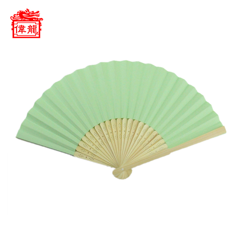Best Selling Eco Friendly Bamboo Handle China Paper Hand Fans GYS914-2