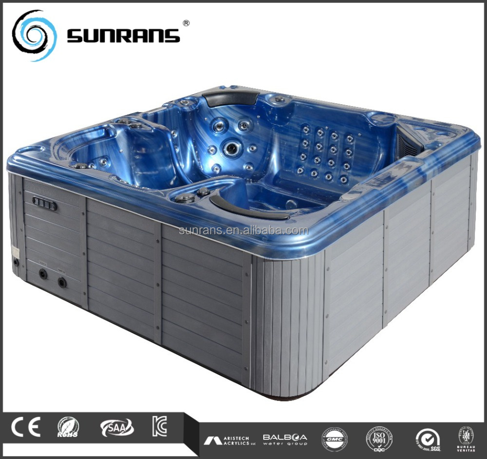 Luxury Spa Equipement Tv Uv Light American Acrylic Hot Tub For Best ...
