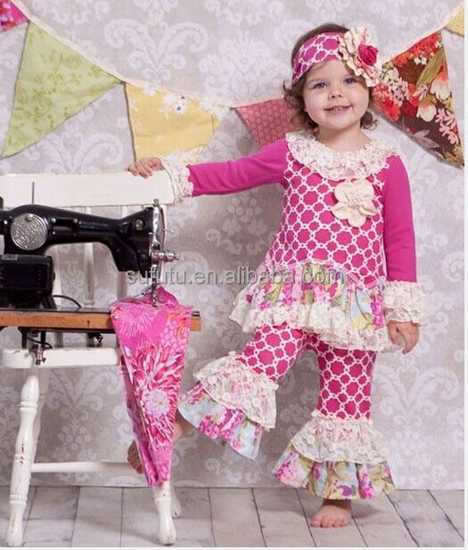 80702478f9c4 New Fashion Flower Girls Ruffles Sets For Chinese Remake Girls Brand Clothes  For Precious Baby Girls