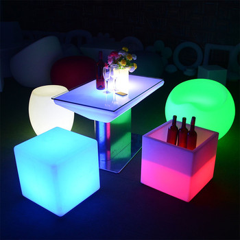party chairs and tables outdoor led patio night club furniture set sectional sofas chair table with lighting