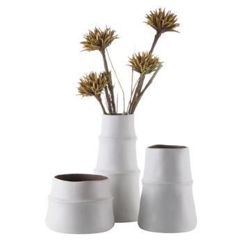 Modern Design Vase Home Decor Bamboo Shape Matt Nordic Vase