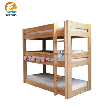 Space Saving Wood 3 Tier Bunk Bed Triple Bunk Bed Buy Wood 3 Tier