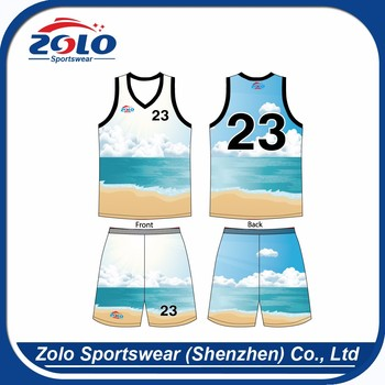 Wholesale factory direct price cool basketball jersey white and blue