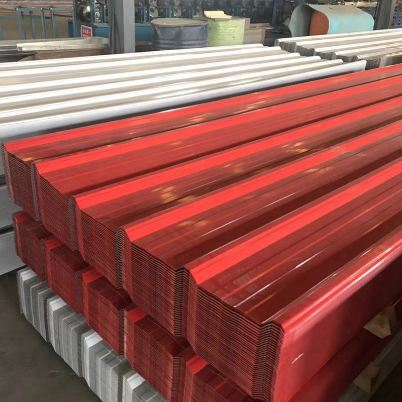 Prepainted / Color Coated Profiled Corrugated Steel Sheets For Exterior Wall Panel Building Materials