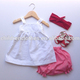 Wholesale Children clothing Boutique baby Clothes Girls Blank Outfit kids Clothing